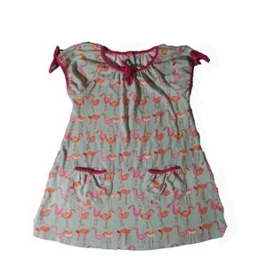 Girls Zutano flamingo tie summer dress sz 2T